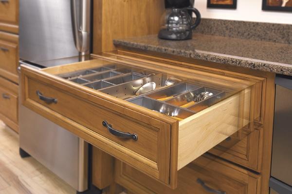 Oak Kitchen Slow Close Drawer