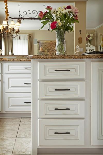 White Kitchen Cabinet Drawers