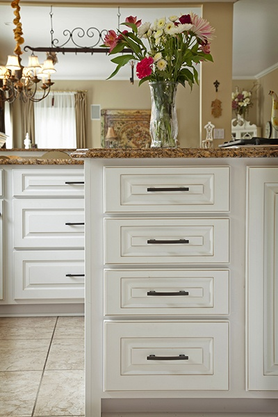 White Kitchen Cabinet Drawers