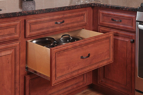 Cherry Kitchen Drawers