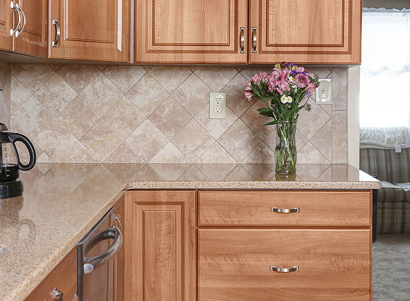Eased Quartz Kitchen Countertop Edge