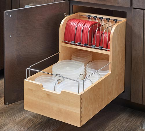 Food storage container cabinet storage