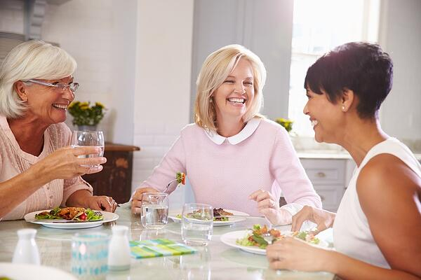 Ladies Having Lunch With Friends