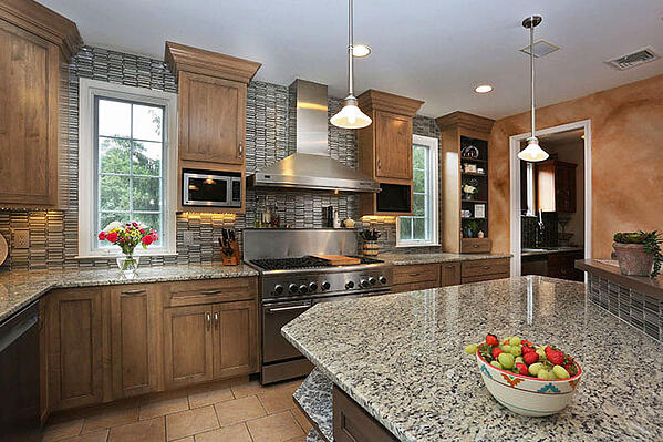Wood Cabinets with Granite Countertop