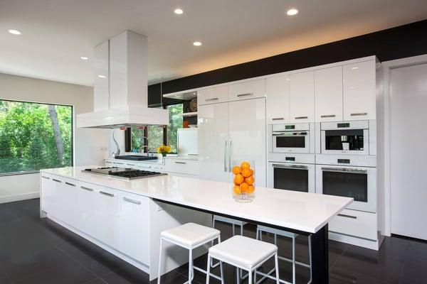 glossy kitchen