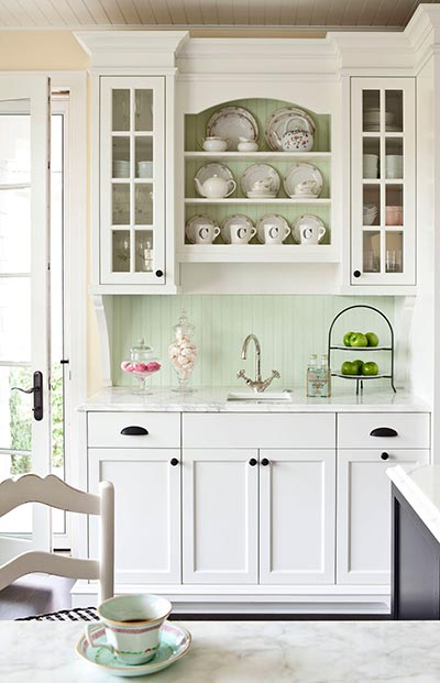 Green walls in the kitchen