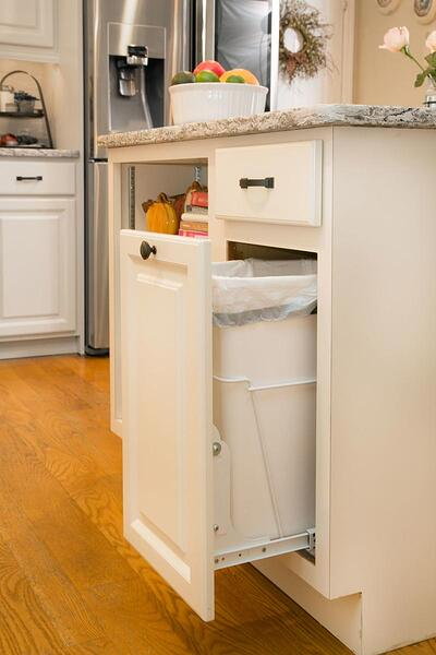 Hide Kitchen Trash Can