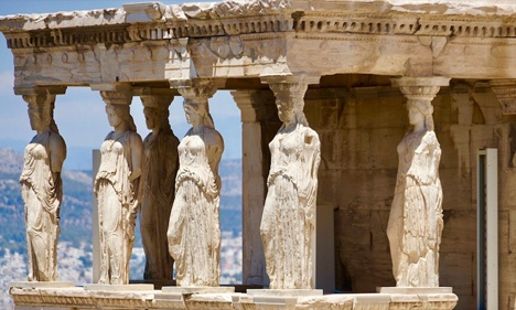 Ancient Erechtheion Temple in Athens, Greece