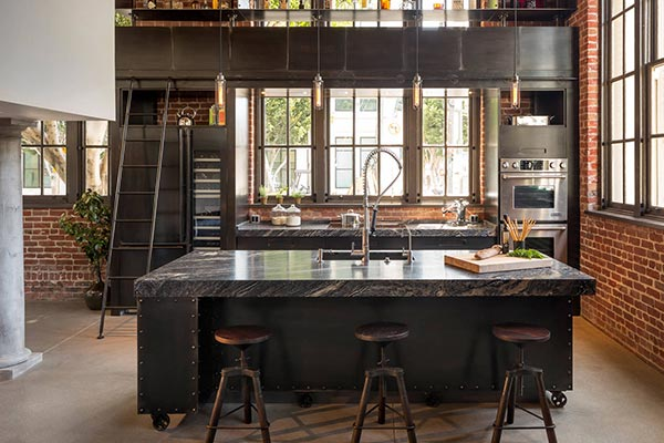 industrial kitchen accents
