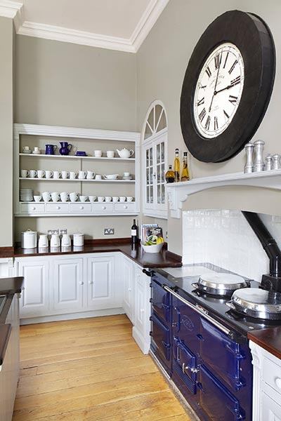 kitchen decor and wall clock