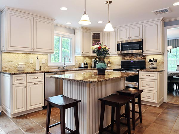 Add Beadboard Panels to Create Texture in the Kitchen