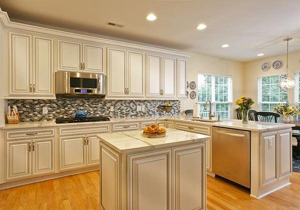 L shaped kitchen layout Storage