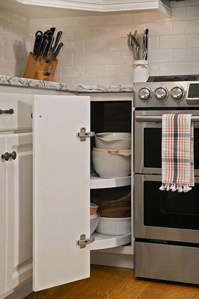 lazy susan cabinet storage