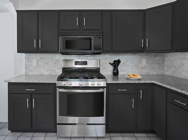 luxe black kitchen design