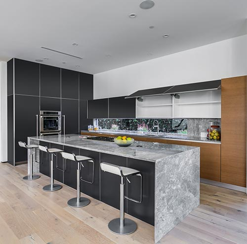 Matte Black Kitchen Cabinets
