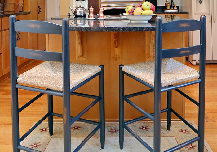 Matte Black Kitchen Bar Stools