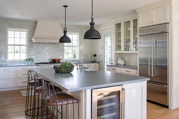 Farmhouse Kitchen with Mixed Metals