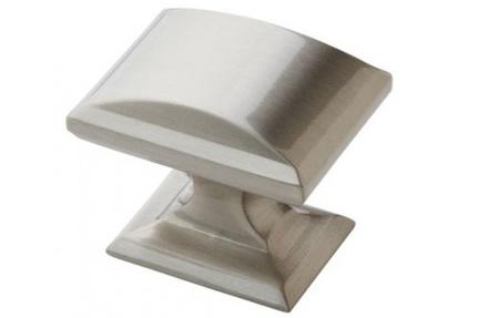 Candler Satin Nickel Rectangular Cabinet Knob