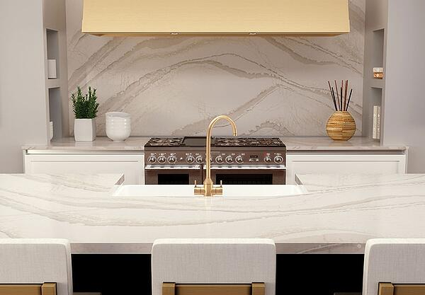 Cambria Quartz Sheet Backsplash