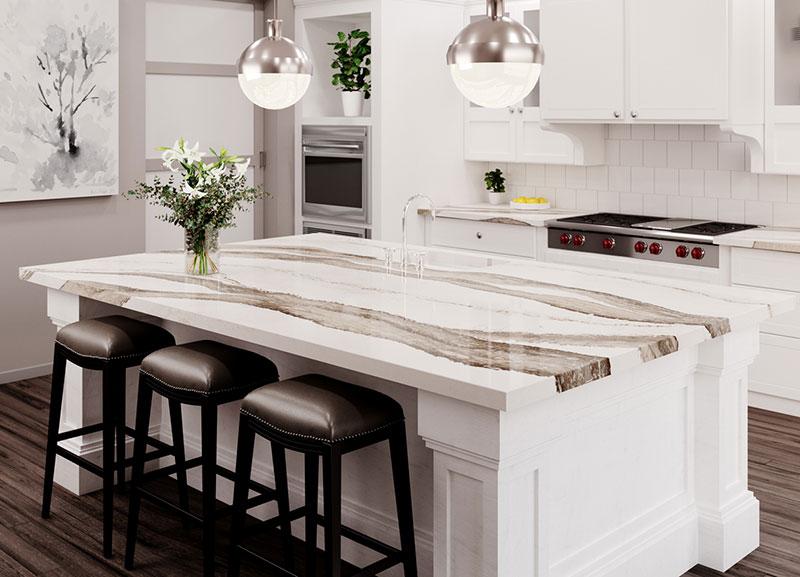 Cambria Skara Brae Quartz Kitchen Countertop