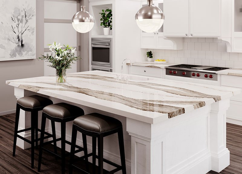 Cambria Skara Brae Quartz Kitchen Countertop