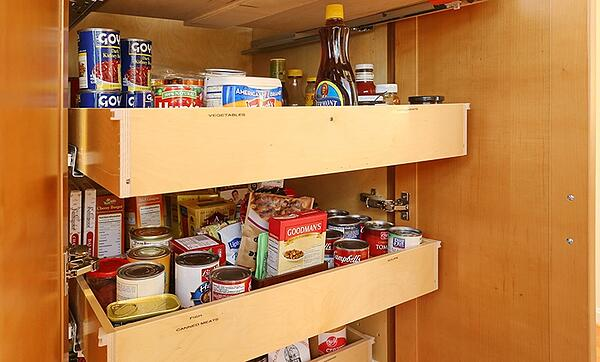 Built-In Kitchen Cabinet with Roll Out Shelves