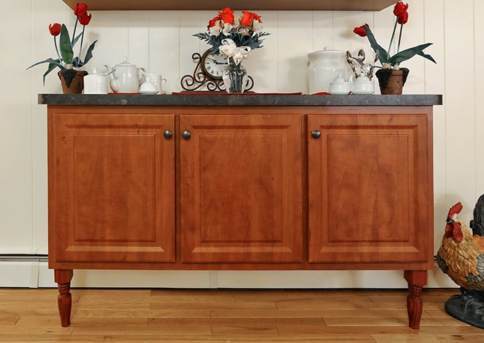 Kitchen Hutch with Laminate Countertop