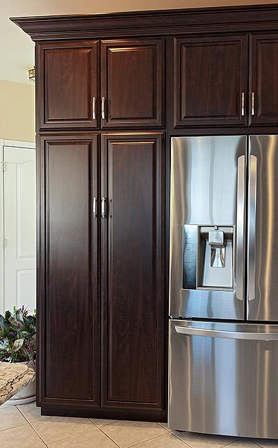Cherry Cabinet Tall Kitchen Pantry