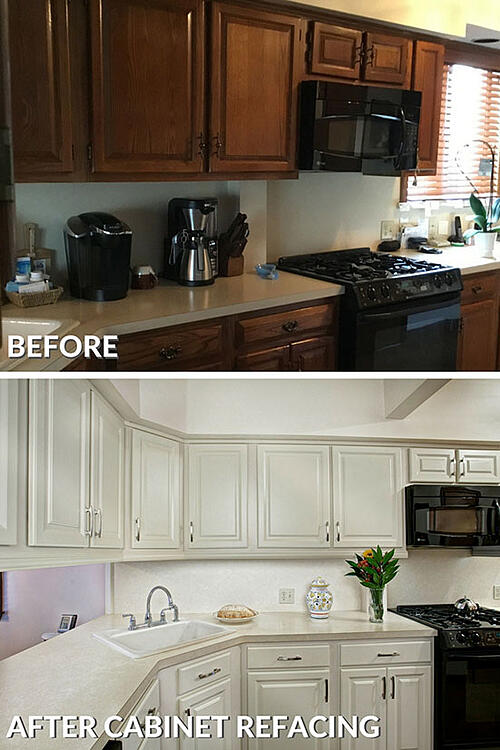 refacing kitchen cabinets cost. refaced kitchen cabinets before and after photo How Much Does Refacing Kitchen Cabinets Cost