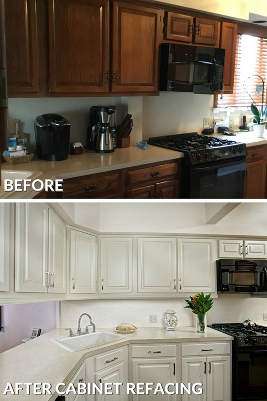 Refaced Kitchen Cabinets Before And After Photo