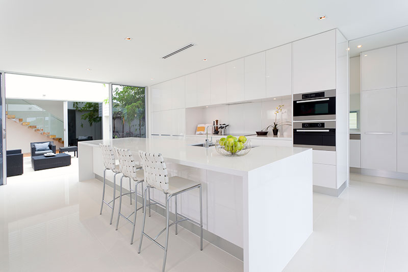 Postmodern Contemporary White Kitchen