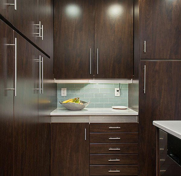 Contemporary Chocolate Pear Kitchen
