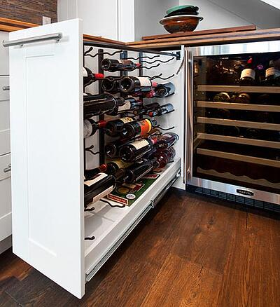 pull-out kitchen wine storage