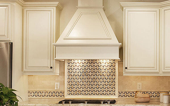 Under Range-Hood Lighting with Focal Point Backsplash