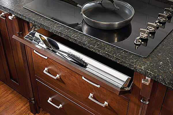 Cooktop Range Storage Tip Out Tray