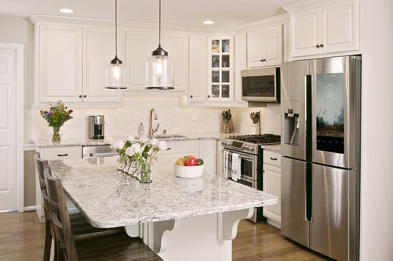 White Cabinet Kitchen Refacing After Photo