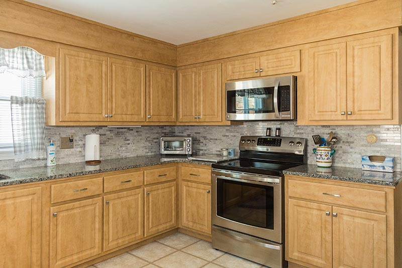 Kitchen with Soffit After Cabinet Refacing