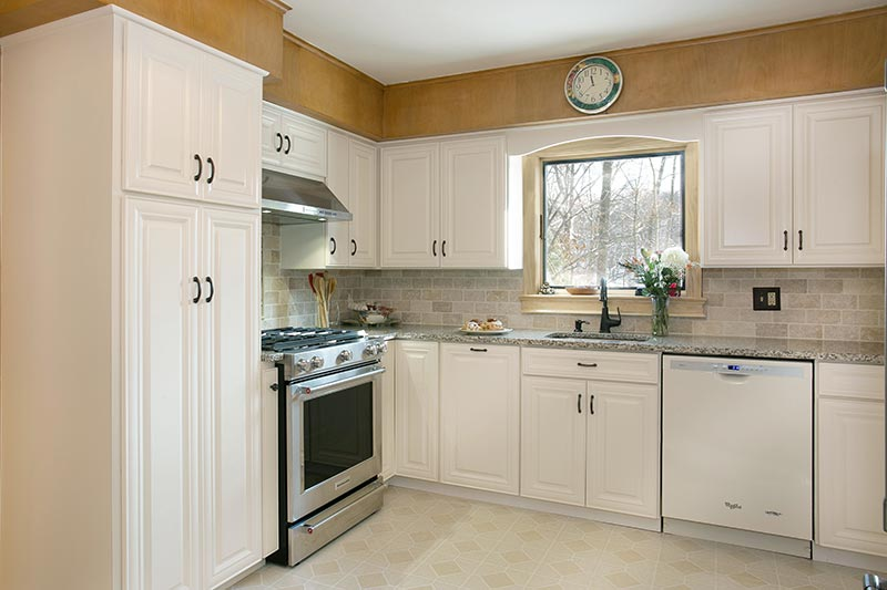 White Kitchen After Cabinet Refacing