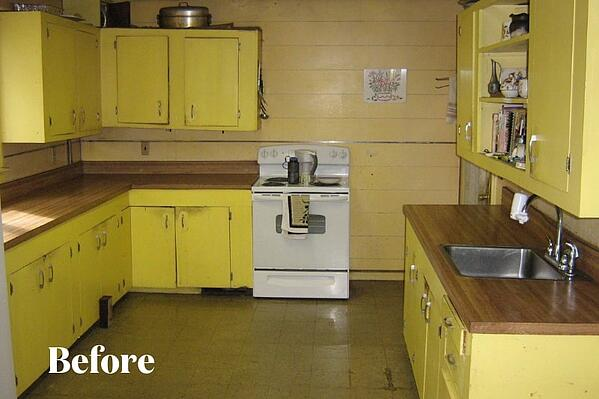 Scary Yellow Kitchen Before Photo