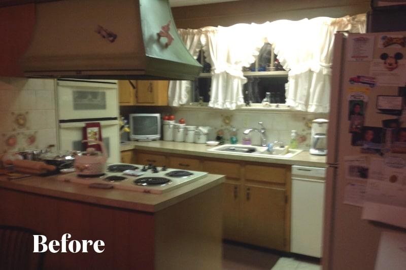 Dark, Dated Kitchen Before Remodel