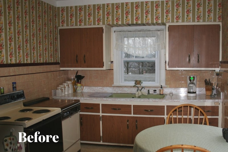 Outdated Kitchen Before Shot