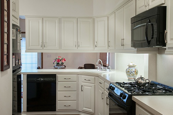 White Kitchen with Soffit