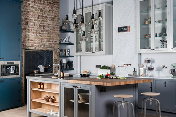 textured industrial kitchen