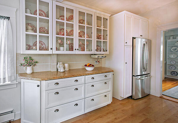 Glass-Front Kitchen Cabinets