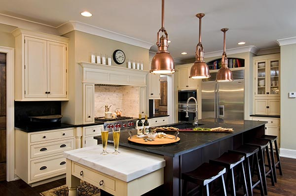 Traditional Kitchen with Mixed Metals