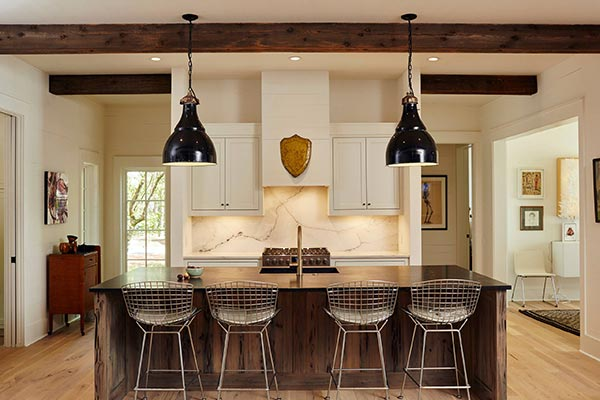 two kitchen pendant lights