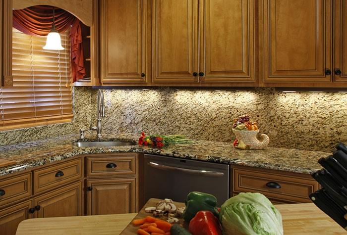 Craftsman Kitchen with Under Cabinet Lighting