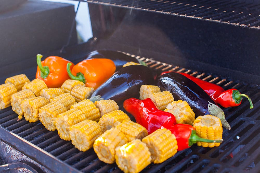 Vegetabvles Roasting on the Grill