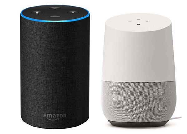 Amazon echo and Goolge home