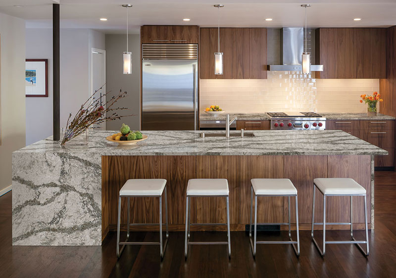 Cambria Waterfall Egde Countertop